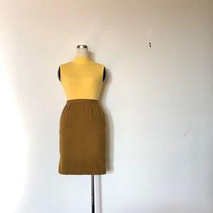 Torrente - Vintage 80s Herringbone Wool Skirt